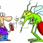 man fighting with mosquito
